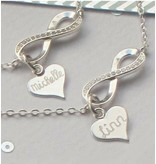 Gift Box Silver bracelets 'Infinity' Mother daughter - Copy