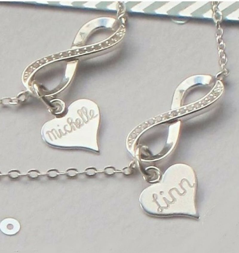 KAYA sieraden Gift Box Silver bracelets 'Infinity' Mother daughter - Copy