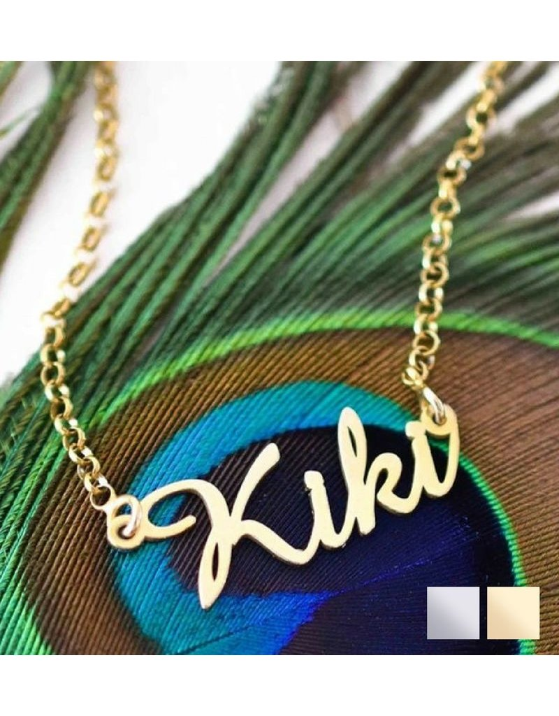 KAYA sieraden Name Necklace 'Claudia' in the name of your choice