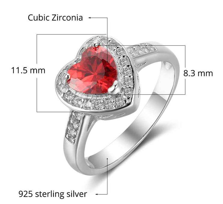KAYA sieraden Ring met geboortesteen 'hart'