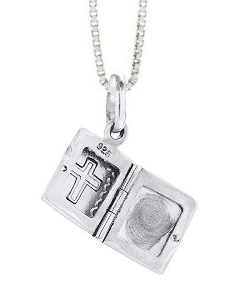 KAYA sieraden Medaillon ketting 'bijbel'