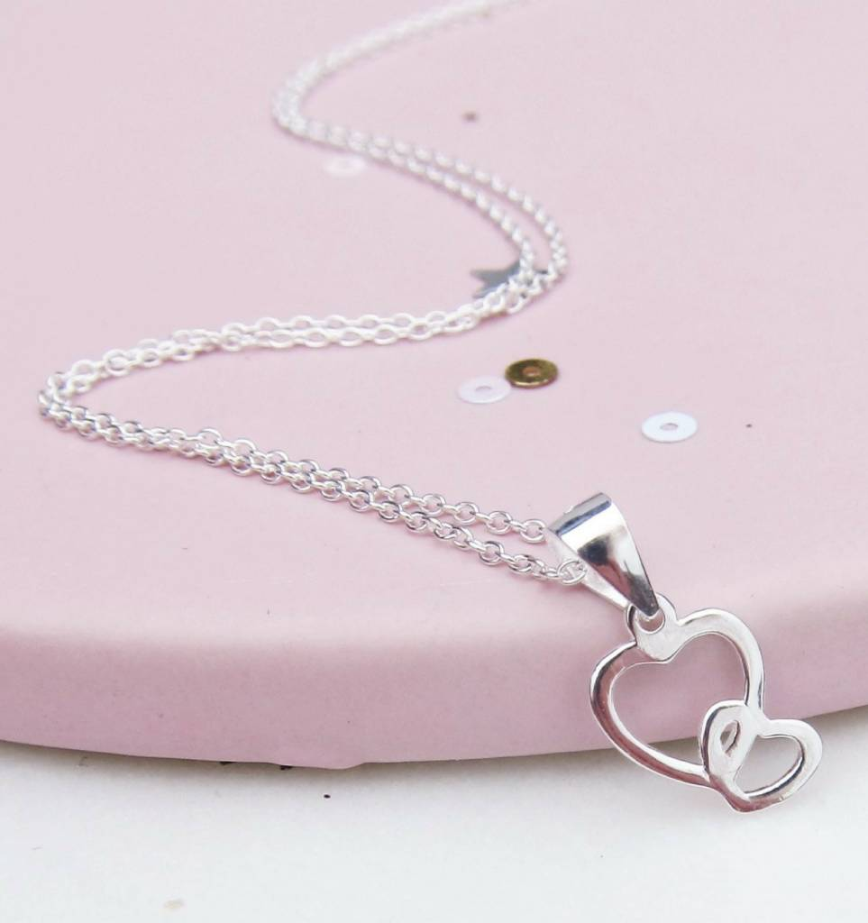 KAYA sieraden Silver necklace 'your heart near me'