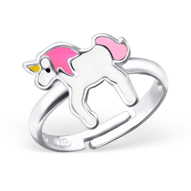 KAYA sieraden Zilveren kinderring 'Eenhoorn'