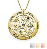 KAYA sieraden Silver Necklace 'Filigree Tree Rondje' - Copy