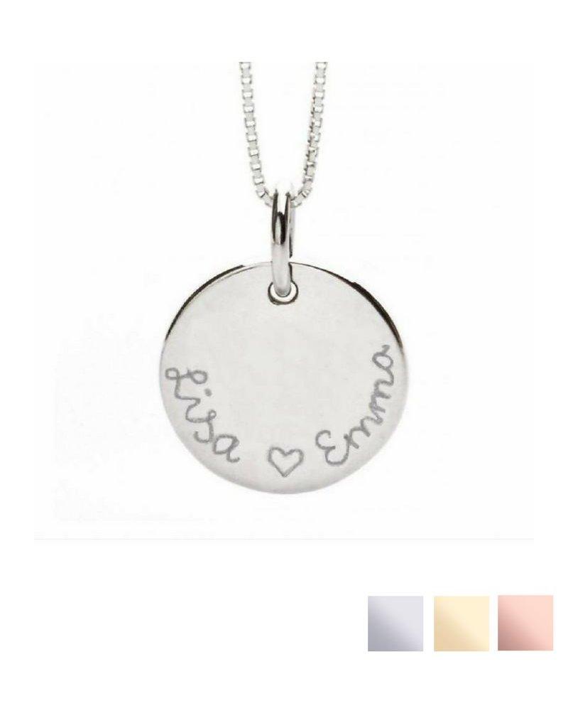 KAYA sieraden Zilveren ketting 'Round and Round'