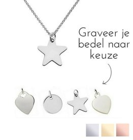 KAYA sieraden Zilveren ketting 'Personaliseer'