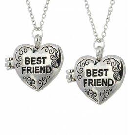 KAYA sieraden Medaillon kettingen Verzilverd 'Best Friend'