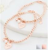 KAYA sieraden Silver bracelet 'Cute Balls' with engraving disc