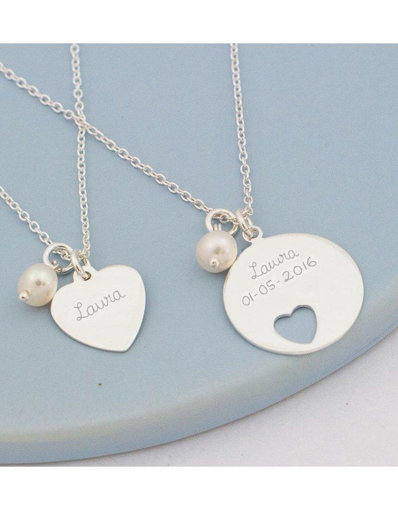 KAYA sieraden Zilveren mom & me kettingen 'In my Heart'
