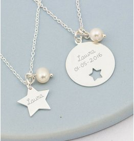KAYA sieraden Zilveren mom & me kettingen 'You are my Star'