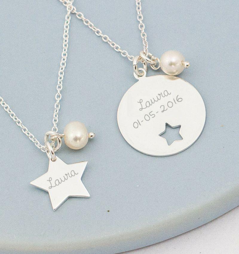 Zilveren Mom & Me kettingenset 'My Star'