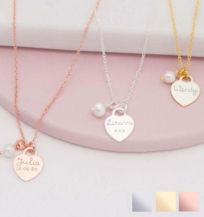 KAYA sieraden Zilveren Ketting 'Stel zelf Samen'
