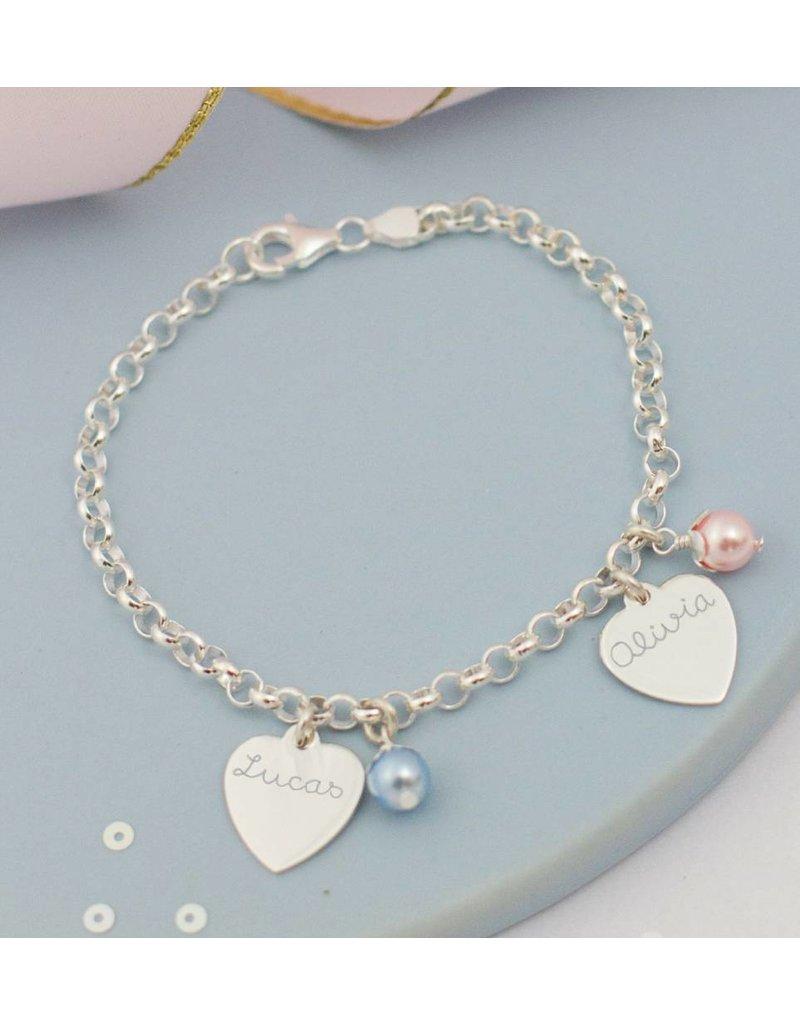 KAYA sieraden Zilveren armbanden Set met 'Kies je bedels'