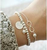 "3 Silver Bracelets ""Ask yourself together ' - Copy"