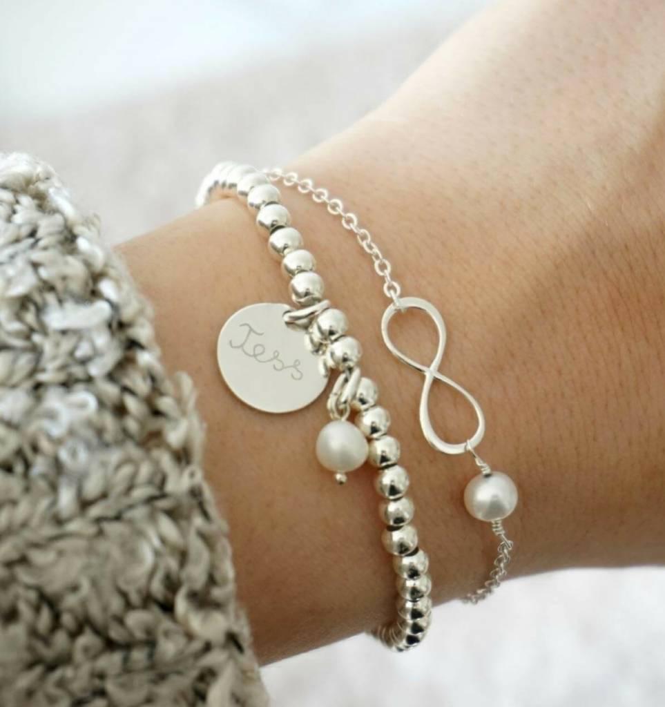 3 Zilveren Armbanden 'Cute Balls'