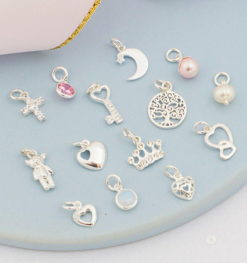 "KAYA sieraden Silver bracelets Cute Balls' Choose your charms """