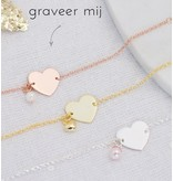 KAYA sieraden Silver graveerarmband You have been baptized, congratulations' with Pearl - Copy