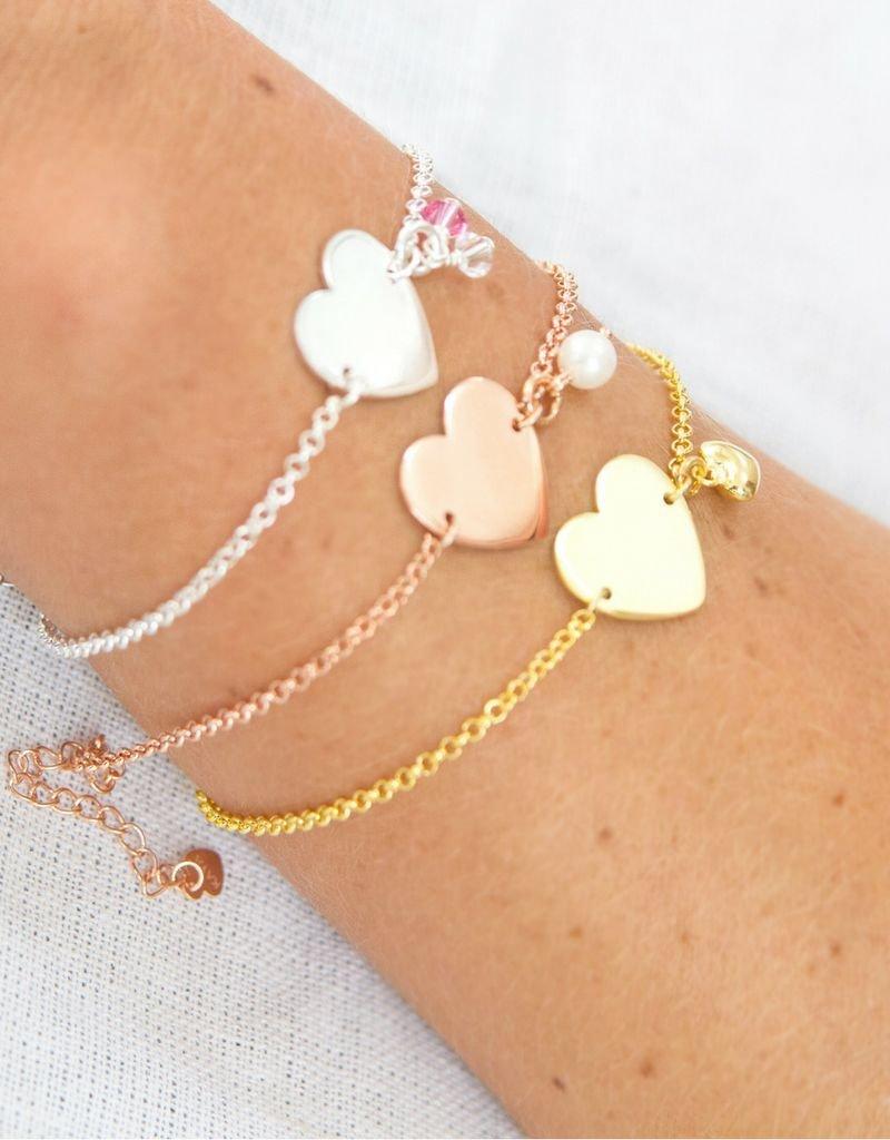KAYA sieraden Zilveren Graveer armbandje *voorkant & achterkant gravering*