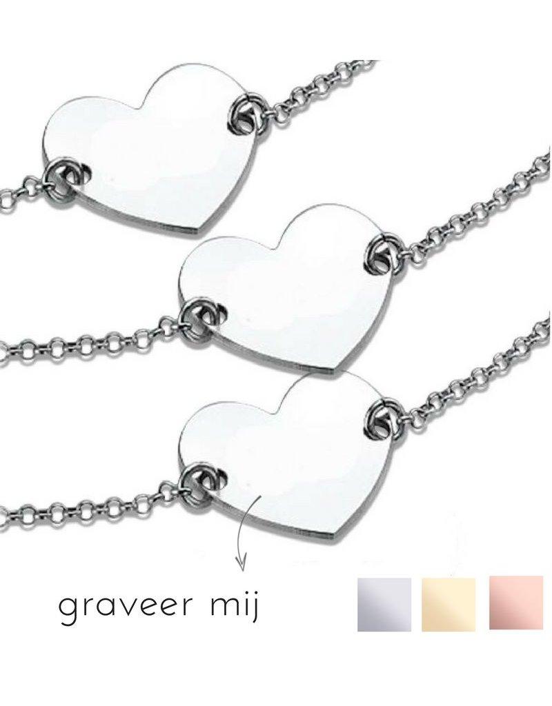 "KAYA sieraden Silver 3rd generation set ""Memory"" with engraving"