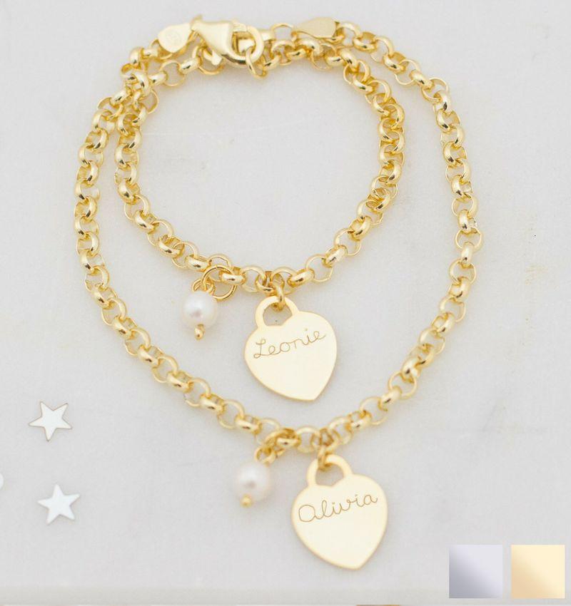 KAYA sieraden Trendy silver bracelets mom & me jasseron - Copy