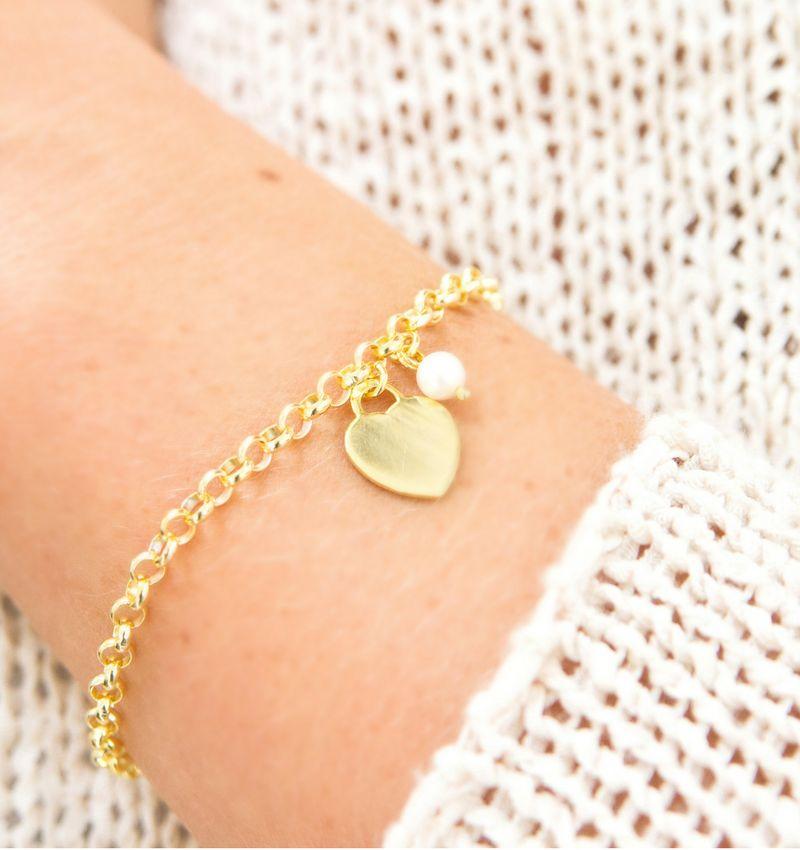 KAYA sieraden Swarovski ® Crystal Parel bedel (voor aan armband of ketting