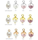 Silver Pearl charms (for on bracelet or necklace)