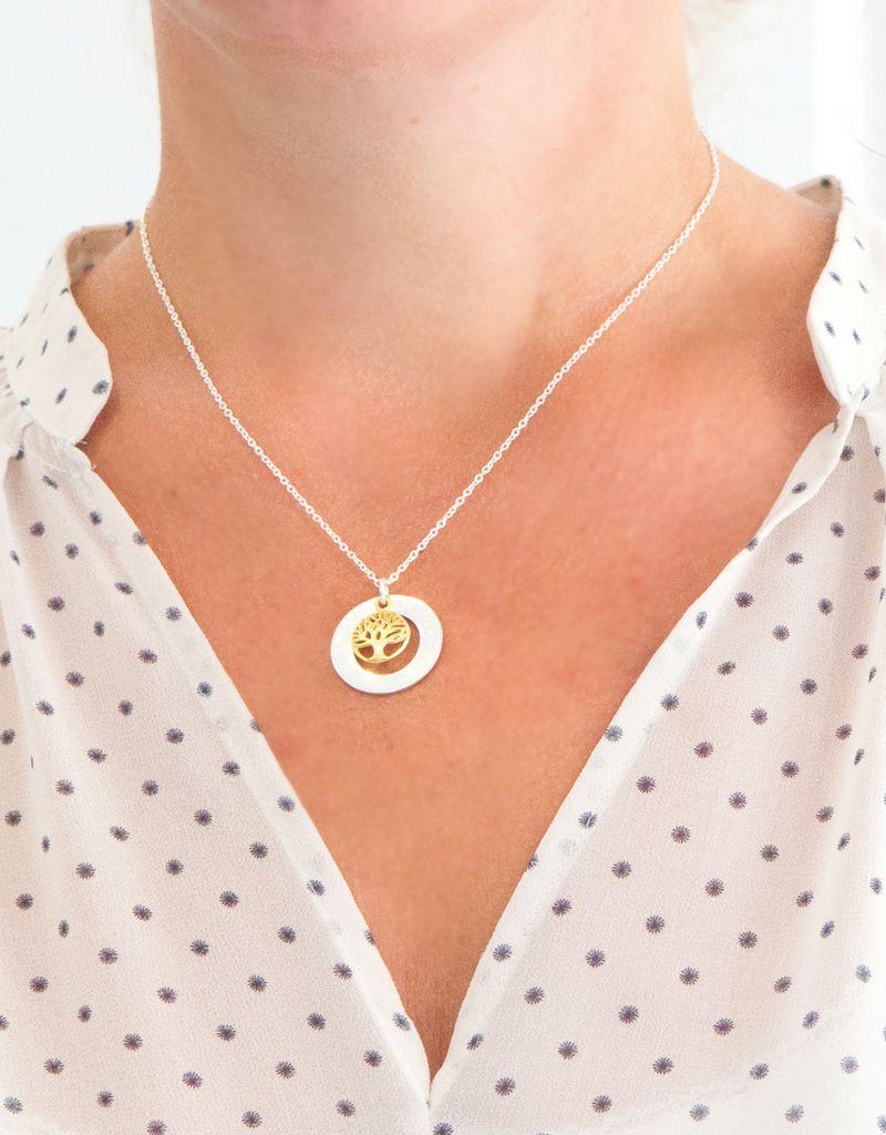 Silver pedigree necklace 'family tree' - Copy