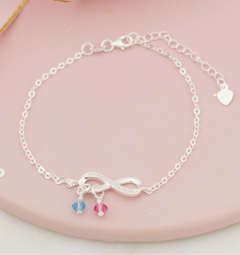 KAYA sieraden Infinity bracelet SWAROVSKI® Birth crystals - Copy
