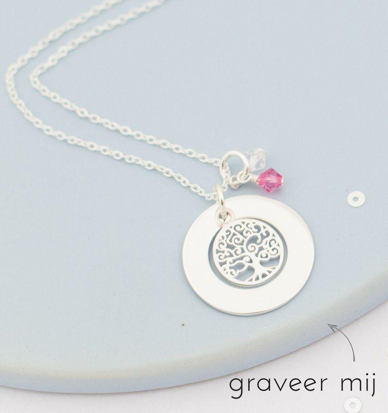 KAYA sieraden Silver pedigree necklace 'family tree' - Copy - Copy