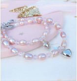 KAYA sieraden Mom & Me set 'Pink Princess' with Key to My Heart,