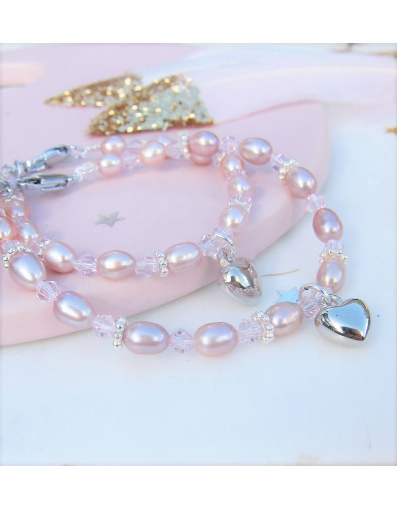 KAYA sieraden Mom & Me set 'Pink Princess' key to your heart