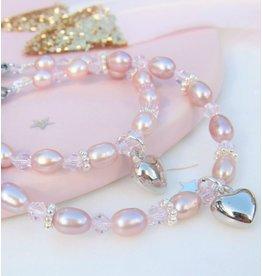 KAYA sieraden Mom & Me armbanden 'Pink Princess' met hartje