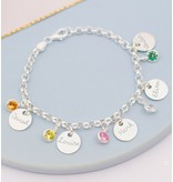 KAYA sieraden Silver Chain Bracelet 'Ask yourself together'