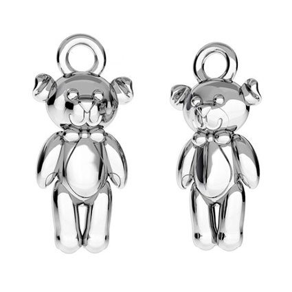 KAYA sieraden Silver children's necklace with engraving begging 'teddy bear'