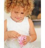 KAYA sieraden Verstelbaar leren armbandje 'graveerbedel'