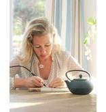 KAYA sieraden Zilveren ketting 'angel wings & graveer disc'