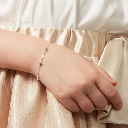 KAYA sieraden Silver baby bracelet 'Twinkle Star'