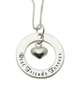 KAYA sieraden Zilveren ketting 'Best Friends Forever'