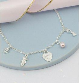 KAYA sieraden Bedelketting Zilver 'Stel zelf samen'