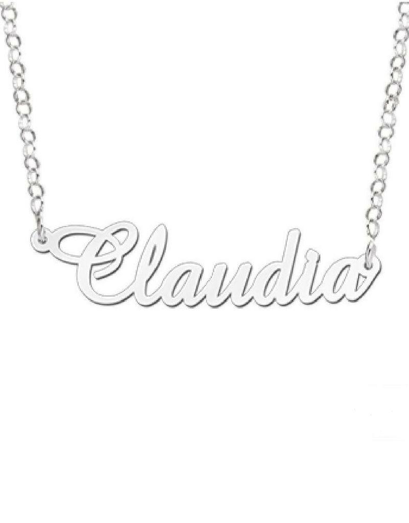 KAYA sieraden Naamketting 'Claudia' in naam van je keuze