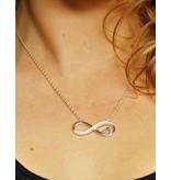 KAYA sieraden Zilveren Infinity Ketting 'Forever in my Heart'