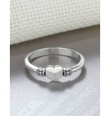 Silver ring with inititaal - Copy