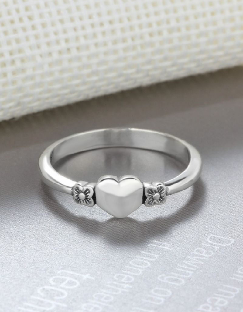 KAYA sieraden Silver ring with inititaal - Copy