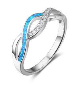 KAYA sieraden Silver ring with opal stone '3 hearts' - Copy - Copy