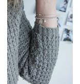Zilveren armband 'Cute Balls' met graveerbedel & parel