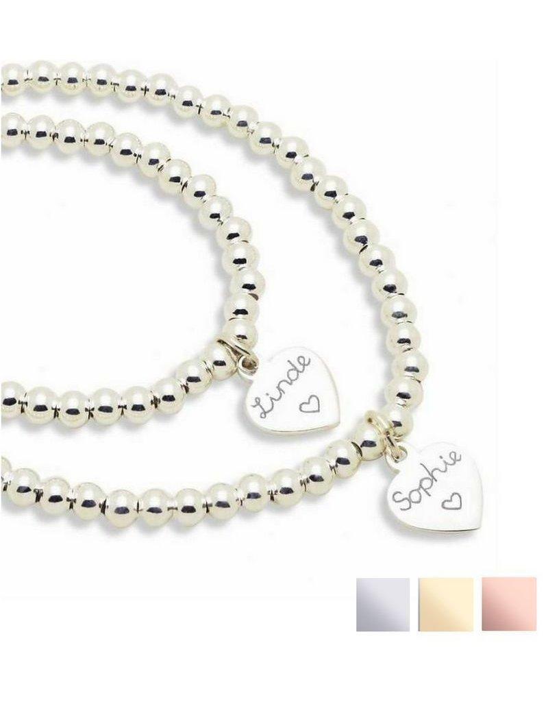 KAYA sieraden Silver bracelets set 'Cute Balls' for mother and daughter - Copy - Copy
