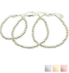 KAYA sieraden 3 Zilveren Armbanden 'Cute Balls'