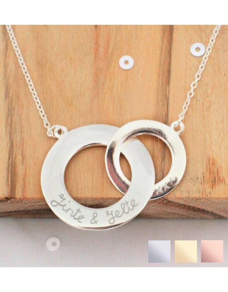 KAYA sieraden Zilveren ketting 'Verstrengeld'