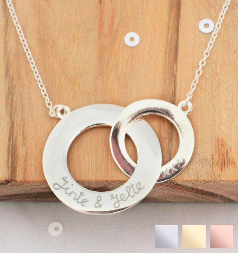 KAYA sieraden Silver necklace 'Stringed'
