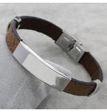 KAYA sieraden Gepersonaliseerde Stainless Steel Armband 'Cool Grey'